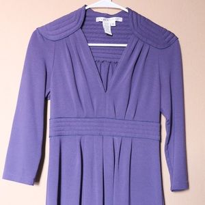 Purple short dress, long sleeve